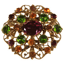 Buy Alice Joseph Vintage 1930s Gold Plated Bohemian Diamante Brooch, Green Online at johnlewis.com