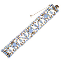 Buy Alice Joseph Vintage Kramer Silver Blue Glass Bracelet, Blue Online at johnlewis.com