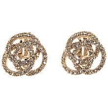 Buy Alice Joseph Vintage Ciner Silver Plated Diamante Earrings, White Online at johnlewis.com