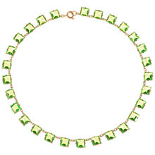 Buy Alice Joseph Vintage 1920s Gold Plated Glass Stone Necklace, Green Online at johnlewis.com