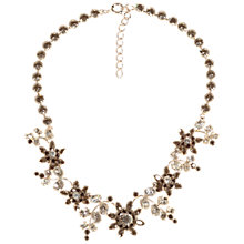 Buy Alice Joseph Vintage 1950s Silver Plated Diamante Floral Necklace, Grey Online at johnlewis.com