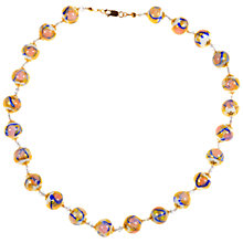 Buy Alice Joseph Vintage Venetian Glass Bead Necklace, White Online at johnlewis.com
