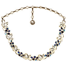 Buy Alice Joseph Vintage American Blue Silver Diamante Necklace, Silver Online at johnlewis.com