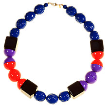 Buy Alice Joseph Vintage Monet Acrylic Bead Necklace, Blue Online at johnlewis.com