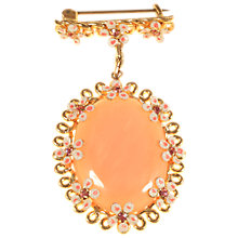 Buy Alice Joseph Vintage 1920s Gold Plated Glass Enamel Brooch, Pink Online at johnlewis.com