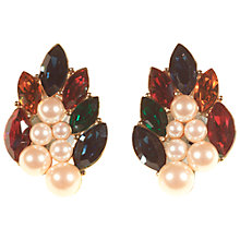 Buy Alice Joseph Vintage Monet Gold Plated Pearl Diamante Stud Earrings, Pearl Online at johnlewis.com