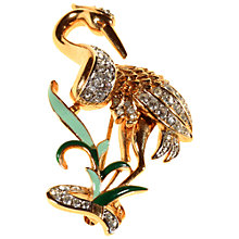 Buy Alice Joseph Vintage Atwood and Sawyer Gold Plated Enamel And Diamante Brooch, White Online at johnlewis.com