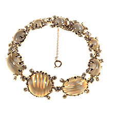 Buy Alice Joseph Vintage 1950s Christian Dior Silver Glass Stone Bracelet, Grey Online at johnlewis.com