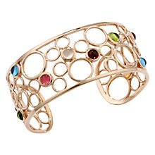 Buy London Road 9ct Rose Gold Multi Stone Bangle, Rose Gold Online at johnlewis.com