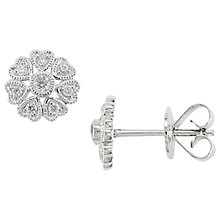 Buy EWA 18ct White Gold Diamond Stud Earings, White Gold Online at johnlewis.com