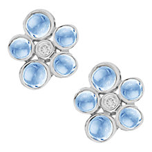 Buy London Road 9ct Gold Cabochon Diamond Stud Earrings Online at johnlewis.com