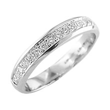 Buy EWA 18ct White Gold Diamond Eternity Ring, White Gold Online at johnlewis.com