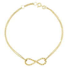 Buy London Road 9ct Gold Infinity Bracelet, Gold Online at johnlewis.com