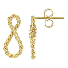 Buy London Road 9ct Gold Infinity Earrings, Gold Online at johnlewis.com