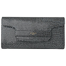 Buy L.K. Bennett Laura Flap Over Clutch Bag,  Black/White Lizard Effect Online at johnlewis.com