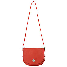 Buy Whistles Brandt Soft Saddle Bag, Red Online at johnlewis.com