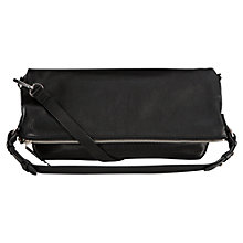 Buy Whistles Covent Large Foldover Hobo Bag, Black Online at johnlewis.com