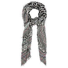 Buy Oasis Animal Print Jacquard Scarf, Multi Online at johnlewis.com