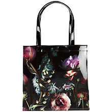 Buy Ted Baker Dowcon Floral Small Icon Shopper Bag, Mid Grey Online at johnlewis.com