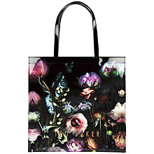 Buy Ted Baker Shocon Flora Large Icon Shopper Bag, Mid Grey Online at johnlewis.com