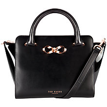 Buy Ted Baker Paiton Bow Leather Tote Bag Online at johnlewis.com