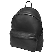 Buy Eastpak Padded Pak'R Leather Backpack, Black Online at johnlewis.com