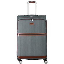 Buy Ted Baker Softside 4-Wheel 80cm Large Suitcase, Grey Online at johnlewis.com