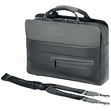 "Buy Fedon1919 Award-File2 15"" Laptop and Tablet Briefcase, Black/Grey Online at johnlewis.com"
