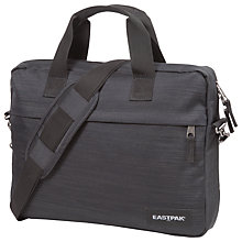 "Buy Eastpak Queezer Linked 14"" Laptop Messenger Bag, Black Online at johnlewis.com"