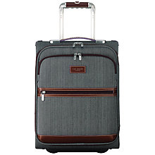 Buy Ted Baker Softside 2-Wheel 50cm Cabin Suitcase, Grey Online at johnlewis.com