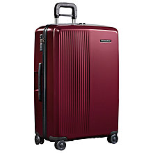 Buy Briggs & Riley Sympatico 4-Wheel Large Suitcase, Burgundy Online at johnlewis.com