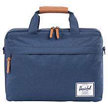 "Buy Herschel Clark 15"" Laptop Messenger Bag, Navy Online at johnlewis.com"