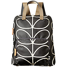 Buy Orla Kiely Linear Stem Backpack, Black Online at johnlewis.com