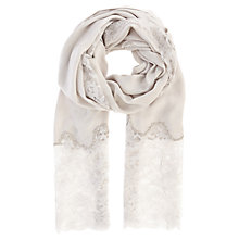 Buy Coast Lace Insert Scarf, Silver Online at johnlewis.com