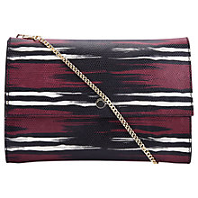 Buy Whistles Lizard Chain Clutch, Burgundy Online at johnlewis.com
