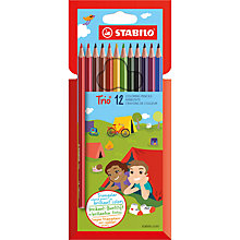 Buy Stabilo Trio Thick Coloured Pencils, Pack of 12 Online at johnlewis.com