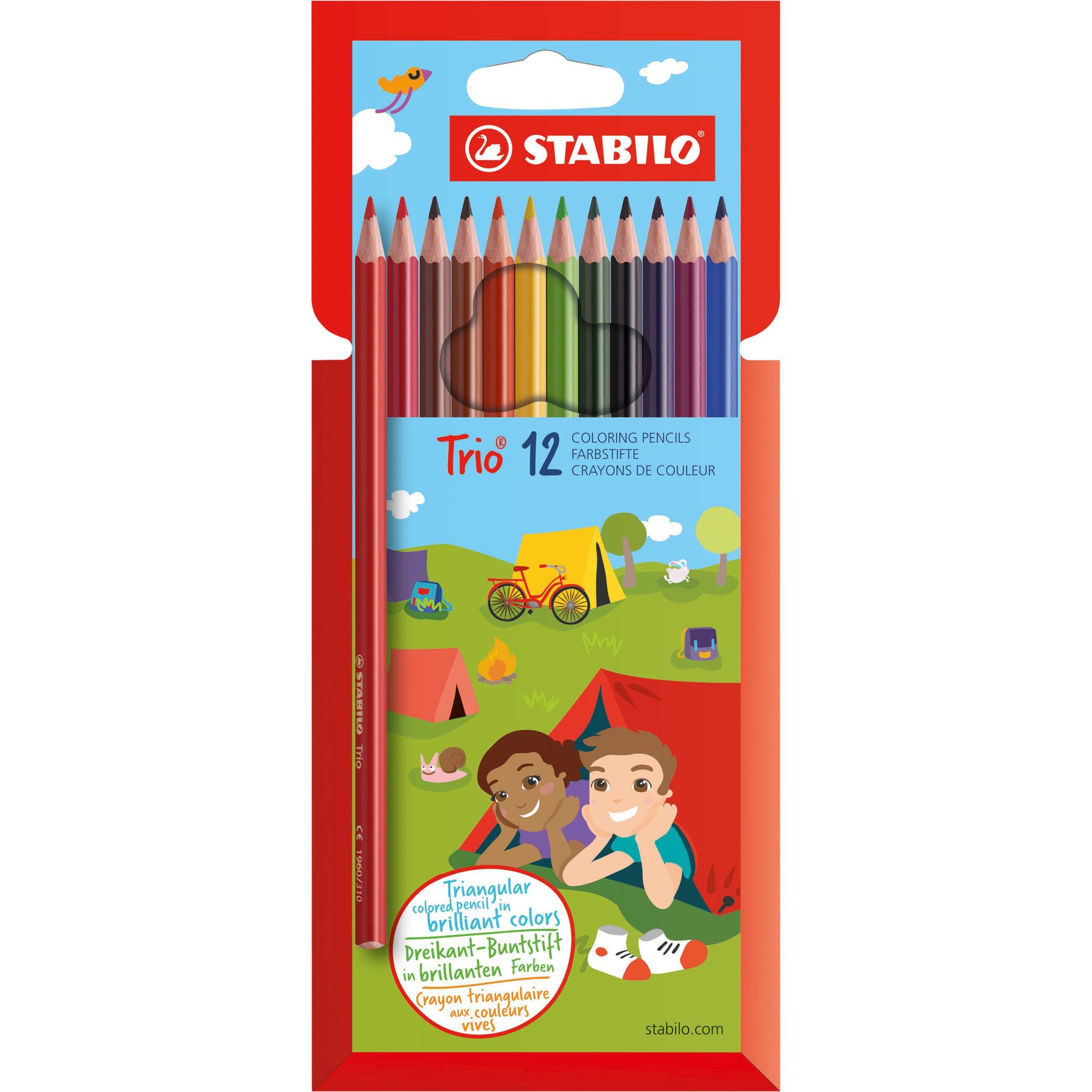 Stabilo Stabilo Trio Thick Coloured Pencils, Pack of 12