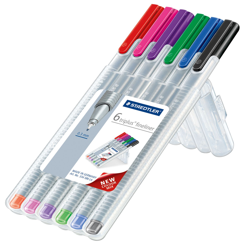 Staedtler Staedtler Triplus Fineliner Colour Pens, Pack of 6