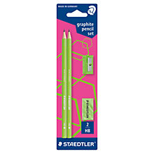 Buy Staedtler Neon Graphite Pencil Set, Pack of 2, Green Online at johnlewis.com