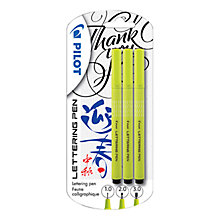Buy Pilot Lettering Pens, Pack of 3 Online at johnlewis.com