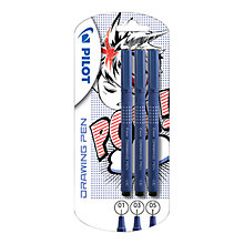 Buy Pilot Drawing Pens, Pack of 3 Online at johnlewis.com