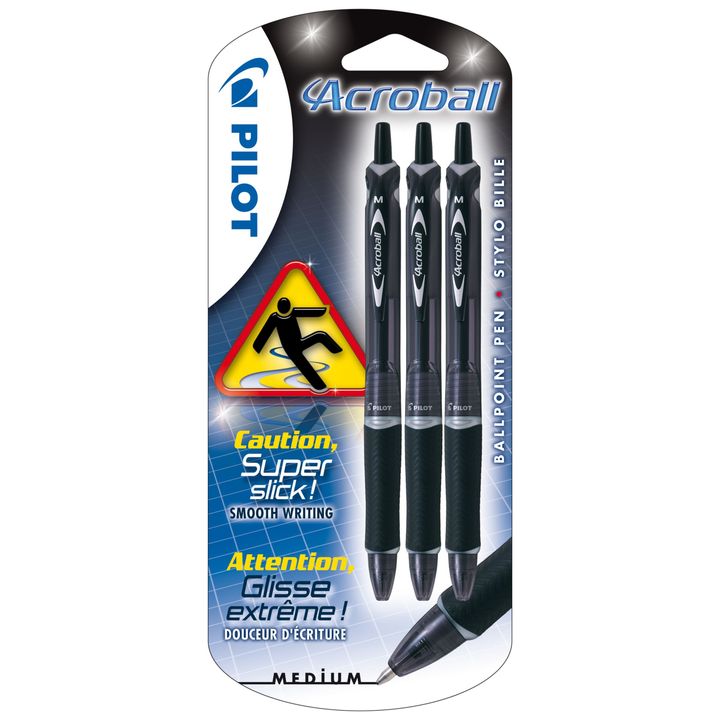 Pilot Pen Pilot Acroball Ballpoint Pens, Pack of 3