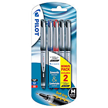 Buy Pilot V Ball Grip 07 Liquid Ink Rollerball Pens, Pack of 5 Online at johnlewis.com