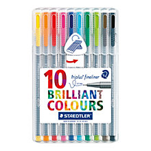 Buy Staedtler Triplus Fineliner Colour Pens, Pack of 10 Online at johnlewis.com