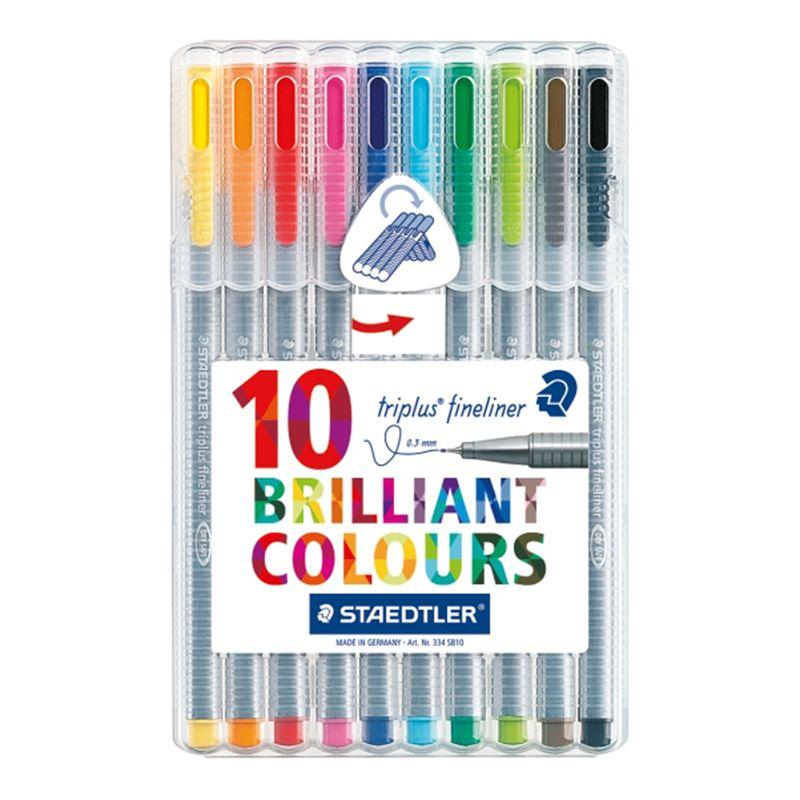 Staedtler Staedtler Triplus Fineliner Colour Pens, Pack of 10
