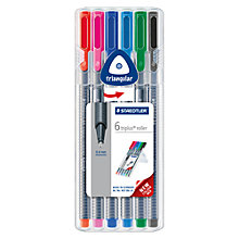Buy Staedtler Triplus Colour Rollerball Pens, Pack of 6 Online at johnlewis.com