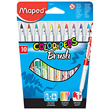 Buy Helix Maped Colorpeps Brush Pen, Pack of 10, Multi Online at johnlewis.com