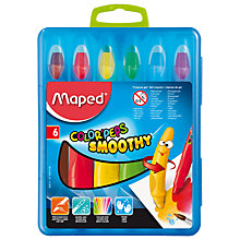 Buy Helix Maped Colorpeps Smoothy Gel Crayons, Pack of 6 Online at johnlewis.com