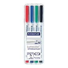 Buy Staedtler Lumocolor Whiteboard Pens, Pack of 4, Multi Online at johnlewis.com
