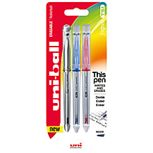 Buy Mitsubishi TSI Erasable Rollerball Pens, Pack of 3, Multi Online at johnlewis.com